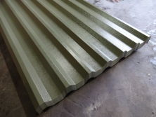Olive Green Plastisol Coated Roofing Sheets