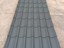 Tile Effect - Dark Grey Plastisol Coated Roofing Sheets